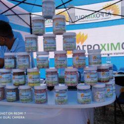 фото мінеральних добрив представлених на виставці Битва Агротитанів під Полтавою від компанії Агрохімоіл